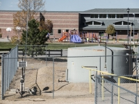 Silver Creek Elementary, Thorton with oil & gas operations 350 feet away from the playground.